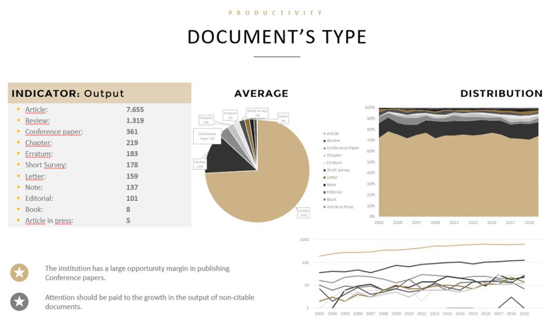 Document's type. Informe cienciométrico. Scmiagolab