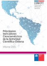 Principales indicadores de la actividad científica chilena 2013